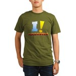 I ! Halloween Organic Men's T-Shirt (dark)