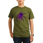 Purple Spider Organic Men's T-Shirt (dark)