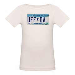 Uffda License Plate Shop Organic Baby T-Shirt