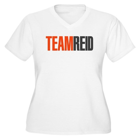 Team Reid Women's Plus Size V-Neck T's
