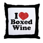 I Heart Boxed Wine Throw Pillow