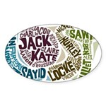 Lost Characters Sticker (Oval)