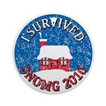 I Survived SNOMG 2010 Ornament (Round)