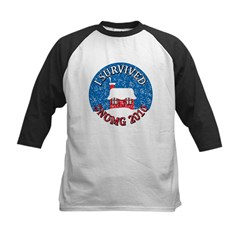 I Survived SNOMG 2010 Kids Baseball Jersey