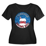I Survived SNOMG 2010 Women's Plus Size Scoop Neck Dark T-Shirt