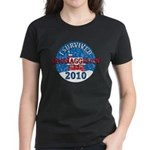 I Survived Snomaggedon Blizzard of 2010 Women's Dark T-Shirt