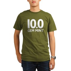 10.0 Gem Mint Organic Men's T-Shirt (dark)