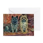 Cairn Terrier Art Greeting Card