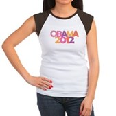 Obama Flowers 2012 Women's Cap Sleeve T-Shirt