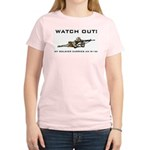 WATCH OUT! MY SOLDIER CARRIES AN M-16! Women's Pin