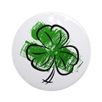 Lucky Clover Round Ornament (Round)