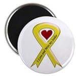 "Yellow Ribbon Love Miss Sailor 2.25"" Magnet (100 p"