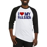 I heart love my Soldier Army Baseball Jersey