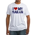 I love (heart) my Sailor Fitted T-Shirt