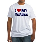 I love (heart) my Seabee Fitted T-Shirt