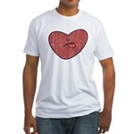 Bad Attitude Heart Fitted T-Shirt