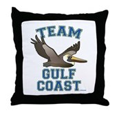 Team Gulf Coast Pelican Throw Pillow