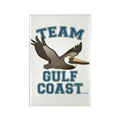 Team Gulf Coast Pelican Rectangle Magnet