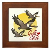 Gulf Coast Pelicans Framed Tile
