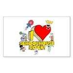 I Heart Schoolhouse Rock! Sticker (Rectangle 50 pk)