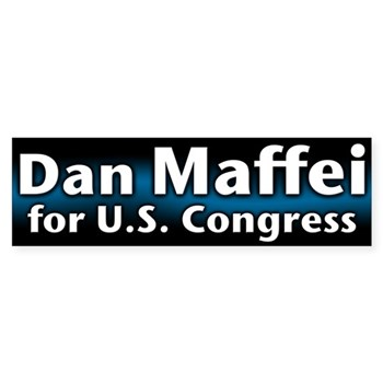 Dan Maffei for U.S. Congress bumper sticker (NY congressional campaign gear)