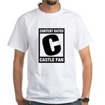 Content Rated C: Castle Fan White T-Shirt
