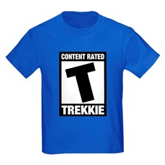 Content Rated T: Trekkie Kids Dark T-Shirt