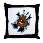 Bowtie Reindeer Throw Pillow