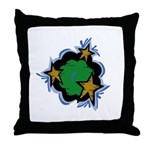 Wreath with Stars Throw Pillow