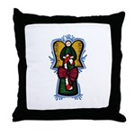 Candycane Angel Throw Pillow