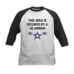 AREA SECURED US AIRMAN Kids Baseball Jersey