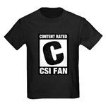 Content Rated C: CSI Fan Kids Dark T-Shirt