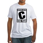 Content Rated C: CSI Fan Fitted T-Shirt