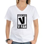Content Rated V: V Fan Women's V-Neck T-Shirt