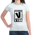 Content Rated V: V Fan Jr. Ringer T-Shirt