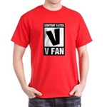 Content Rated V: V Fan Dark T-Shirt