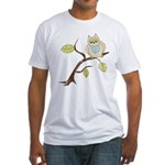Lazy Owl Fitted T-Shirt