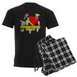I Heart Schoolhouse Rock! Men's Dark Pajamas