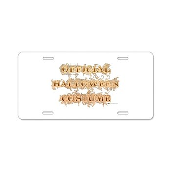 Official Halloween Costume Aluminum License Plate