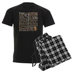 Shakespeare Insults T-shirts & Gifts Men's Dark Pajamas
