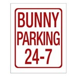 Bunny Parking Small Poster