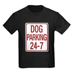 Dog Parking Kids Dark T-Shirt