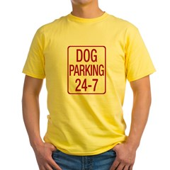 Dog Parking Yellow T-Shirt