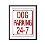 Dog Parking Framed Panel Print