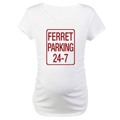 Ferret Parking Maternity T-Shirt