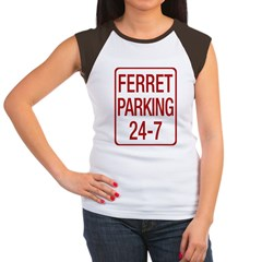 Ferret Parking Women's Cap Sleeve T-Shirt