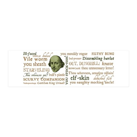 Shakespeare Insults 36x11 Wall Decal