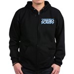 I'd Rather Be Watching Scrubs Zip Hoodie (dark)
