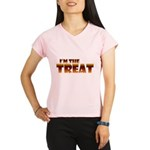 Glowing I'm the Treat Women's Double Dry Short Sle