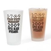 Presidential Firsts Drinking Glass